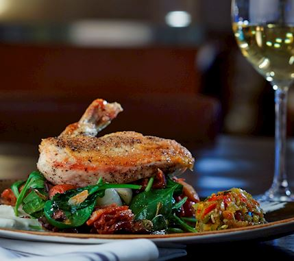 Roasted Chicken and vegetables with white wine